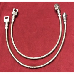 STAINLESS EXTENDED FRONT & REAR AXLE BRAKE HOSE SET!