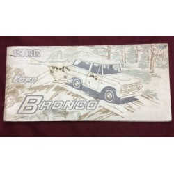 1966 bronco original genuine ford owners manual. second printing