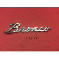"new bronco ""script"" emblem with mounting hardware"