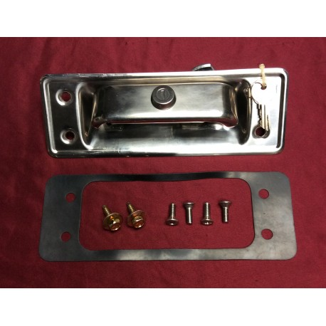 Locking Tailgate Handle & Bucket Assembly, stainless steel, with install kit.