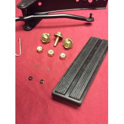 Gas / accelerator pedal pad & assembly kit