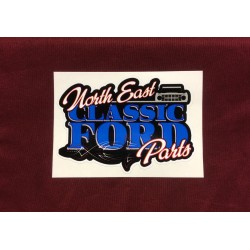 "Northeast Classic Ford Parts Sticker 3.75"" x 2.75"""
