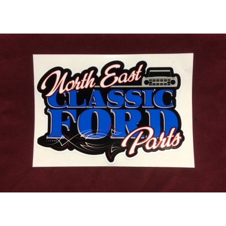 "Northeast Classic Ford Parts Sticker 5.25"" x 3.75"""