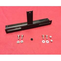 license plate bracket kit, front, new! Black powder-coat