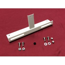 license plate bracket kit, front, new! White powder-coat