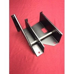 Brake pedal / clutch pedal mount with pivot rod.