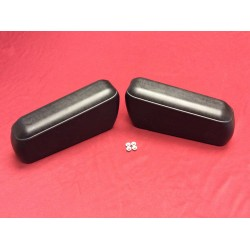 Arm rest pad set, rear / back seat, new black 1968-1977