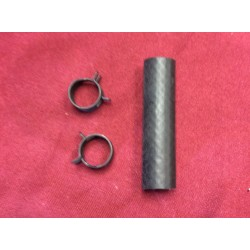 fuel filter hose with clamps 1966-1977 bronco