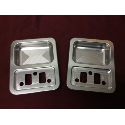 billet aluminum door handle cup set. (clear anodized)