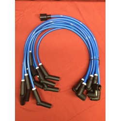 289/302 performance 8mm ford logo ignition wire set, blue