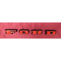 Grille Letter Set For 1966-1977 Bronco, Black With Red Inlay.