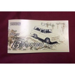 1966 bronco reproduction owners manual