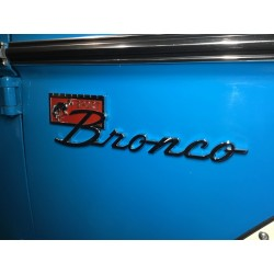 """New bronco """"script"""" sport emblem with mounting hardware"""