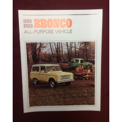 1966 bronco dealer sales brochure reprint