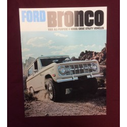 1968 bronco dealer sales brochure reprint