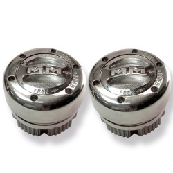 Mile Marker Locking Hub Set With Chrome Knob.