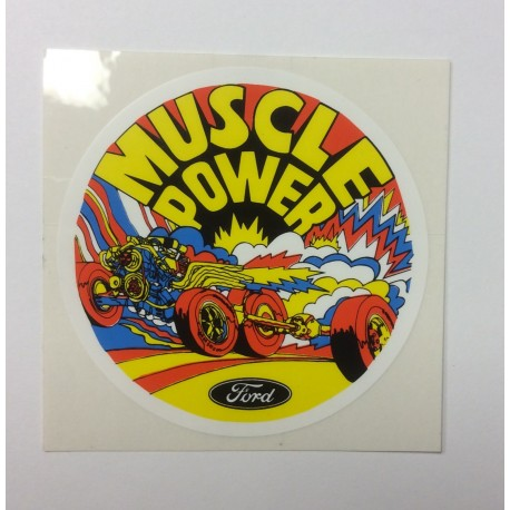 Muscle Power Parts Decal 1960's and 1970's