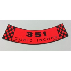 Air Cleaner Decal 351ci 1960's and 1970's
