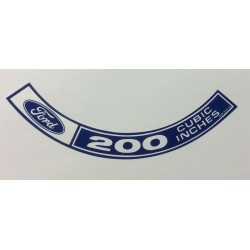 Air Cleaner Decal 200ci 1970-1971