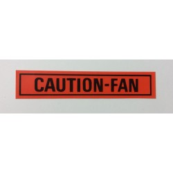 Caution Fan Decal 1960's and 1970's