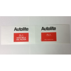 Autolite 6000 Mile Oil Filter Decal