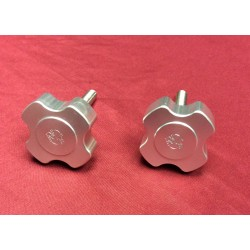 billet aluminum windshield knobs for 1966-1977 bronco's (clear anodized)