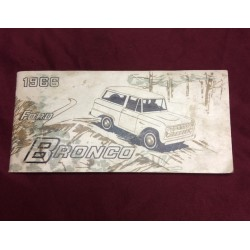 1966 bronco original genuine ford owners manual. first printing!!
